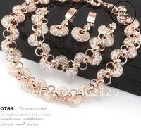 Free Shipping Luxury Rose Gold Austrian Crystal bridal jewelry sets bridal jewelry Wedding OTSSB0001
