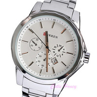 Original Brand Men  Full Steel 10M Waterproof Calendar Quartz wristwatch Japan Movement