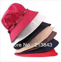 5 Colors Unisex Ourdoor Sun Hats 1PC Beach Cap UV Protection Bucket Hat Free Shipping