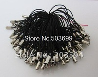 500Pcs Black Cell Phone Strap Lariat Lanyard 5CM