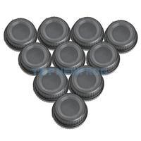 T2N2 10pcs Body Cap with Rear Lens Dust Cover for Nikon DSLR Camera Black New