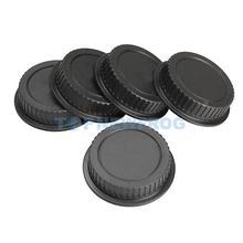 T2N2 5Pcs Rear Lens Cap Dust Cover for Canon EF ES-S EOS Series Lens Black