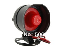 Free shipping + SYD-511-1A BAS 1Tone Car Alarm Security Siren Horn with Wire (Black)