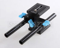Free shipping 15mm Rail Rod Support System Baseplate Mount for canon DSLR Follow Focus Rig 5D2 5D 5D3 7D