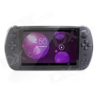 "JXD S7800B 7"" Capacitive Screen 2G RAM 8G ROM RK3188 Quad Core Android 4.2 Smart Handheld Game Console - Black"