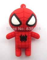 Carton Spider Man 4GB 8GB 16GB 32GB genuine  USB 2.0 Flash Memory Stick Pen Drive Thumbdrive U-disk Card  Mobile Storage Devices