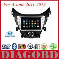 Android GPS Hyundai Avante 2011 2012 2013 Car DVD Player with 3G GPS RDS radio bluetooth WIFI