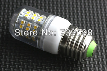 3W E27 Pure White SMD 3528  48LEDs Corn Light Bulb Lamp with Cover