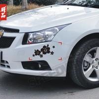 The casualness applique car stickers garland decoration stickers reflective car sticker flower a