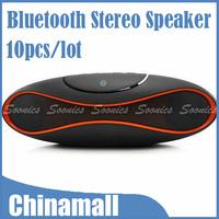 Bluetooth Stereo Speaker MP3 Player FM Radio Handsfree w/ Microphone USB SD AUX Free Express 10pcs/lot