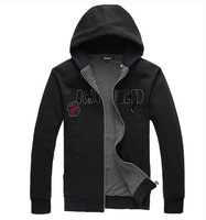 Plus size plus size men's outerwear extra large fat man outerwear with a hood sweatshirt 2013 men's clothing autumn and winter