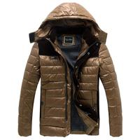 Plus size clothing plus size men's extra large male short design wadded jacket male thickening cotton-padded coat detachable cap
