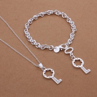 S359 Free Shipping,wholesale 925 silver jewelry set,fashion key jewelry set for women