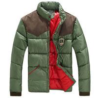 2013 plus size male cotton-padded jacket winter short design stand collar cotton-padded jacket plus size male wadded jacket