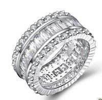 genuine sterling silver 925 womens rings wedding rings unique silver rings women luxury ring
