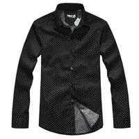 QP-966 Autumn and winter plus size men's clothing male dot long-sleeve shirt men's clothing plus size oversize shirt 6xl
