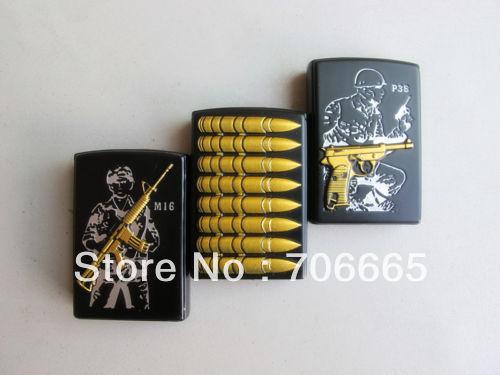 6pcs/lot World War 2 Torch Cigarette Lighter Windproof Jet Flame Cigar Lighter Smoke Set(China (Mainland))