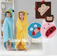 Designs Hooded Animal modeling Baby Bathrobe Cartoon Baby Towel Character Kids Bath Robe Infant Bath Towels Free Shipping