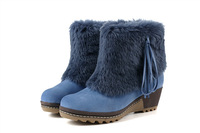 New 2013 size 35-40 fashion genuine leather women snow boots for women and woman winter shoes free shipping