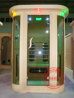 Household double curved sauna room semi-cirle tourmaline khan steam room dry steam room energy house