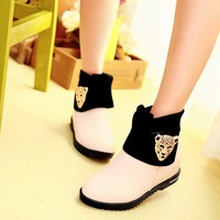 Spring and autumn winter boots female fashion flat heel ankle boots flat boots martin women's shoes