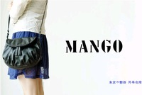 Mango mango mng bag tassel bag one shoulder bag cross-body 2ways black knitted tassel