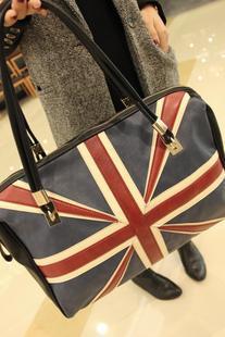 2012 fashion bag national flag big bags vintage women's portable shoulder