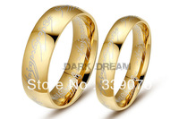 Men's Titanium Steel Ring Lord of The Ring Band Fashion Jewelry Couple Ring