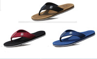 New 2014 Summer Flip Flops Shoes Men Beach Sandals Flat Slippers Casual Flats Fashion Yellow Blue Black Plus Size 39 - 44 5343