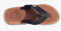 New 2014 Summer Beach Sandals Flat Slippers Casual Flats Fashion Flip Flops Shoes Men Color Brown Gray Plus Size 40 - 44 5340