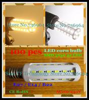 FedEX Free shipping 100 pcs SMD 5630 42 LED 12W E27 E14 B22 LED Corn Bulb Light Maize Lamp LED Lamp LED Lighting Warm/Cool White