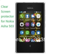 Free Shipping 500pcs/lot Clear Screen Protector Film For Nokia Asha 503