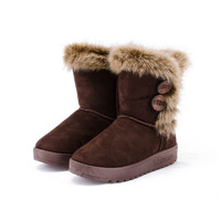 2013 autumn winters  short boots  faux suede snowshoes unginned cotton warm fur boots wholesale women's shoes 2082