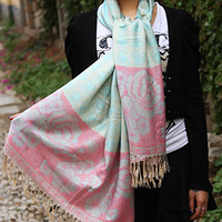 National trend scarf small fresh spring scarf cape scarf dual