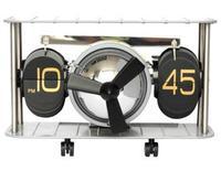 New listing! German Creative Mechanical aircraft head simple retro flip clock Free shipping