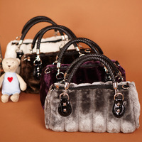 2014 Europe and America women's winter handbag classic fashion imitation rabbit  wool bags shoulder bag 1006