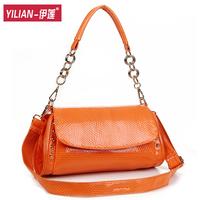 FREESHIPPING!!!!!2013 women's serpentine pattern handbag summer chain bow fashion messenger bag