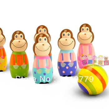 Monkey bowling ball parent-child sports 2 - 3 4 baby