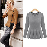 2013 winter long-sleeved sweater bottoming skirt style ladies fashion solid color 5042 FREE SHIPPING