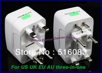 Universal adaptor power converter conversion socket adapter 3 in 1 for US UK EU Australia New Zealand socket plug seat 1pcs Mini