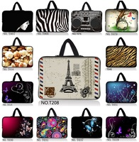 "Stylish  Designs 15"" 15.5"" 15.6"" Neoprene Laptop Soft Case Sleeve Bag Pouch Holder+Hide Handle"