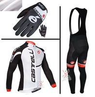 Free Shipping! 2013 Castelli #026 Thermal Fleece Cycling Jersey Long Sleeve and Cycling (bib) Pants GTZ055