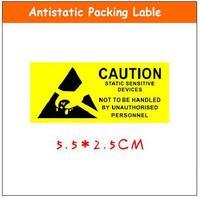 500 pcs/lot Caution label AntiStatic lable 5.5x2.5cm ESD shielding packing sticker