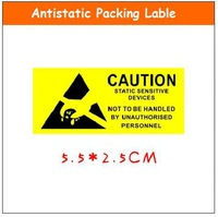 500 pcs/lot Caution label AntiStatic lable 5.5x2.5cm ESD shielding packing sticker