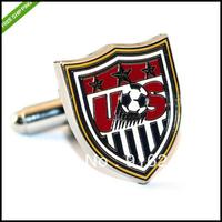 Free Shipping High Quality Custom Made Replica Sports US Soccer Team Cufflinks Cuff Links