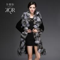Fur one piece fox fur coat medium-long women's fur 2013