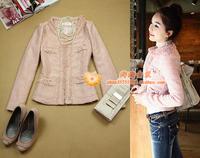 free shipping Women's ol hepburn LLADRO prespinning slim coat pink