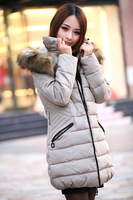 Korean Women Ladies padded jacket women coat and long sections cultivating new thick cotton factory direct