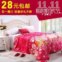 Blanket coral fleece blanket flange fleece blanket thickening autumn and winter blanket bed sheets