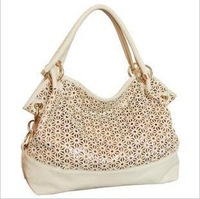 2012 autumn women's handbag fashion bag women's bag cutout bags shoulder cross-body bag  Free shipping